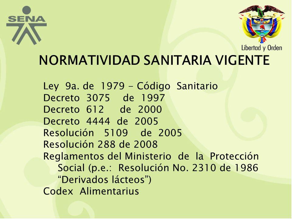 NORMATIVIDAD SANITARIA VIGENTE