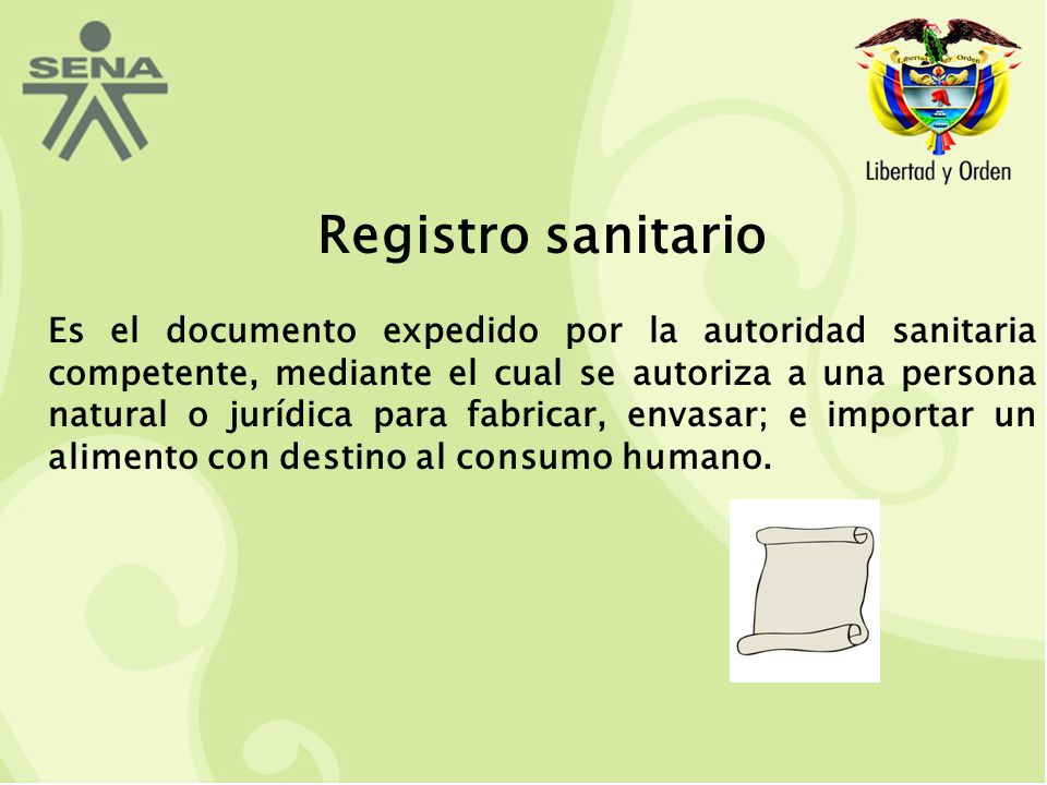 Registro sanitario