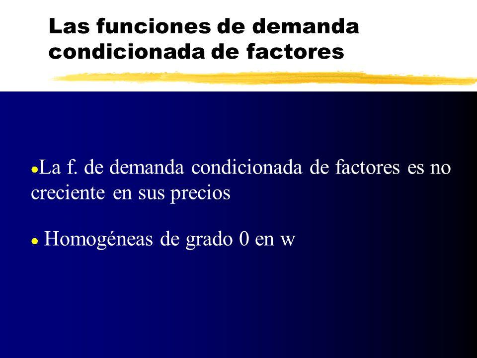 Las funciones de demanda condicionada de factores
