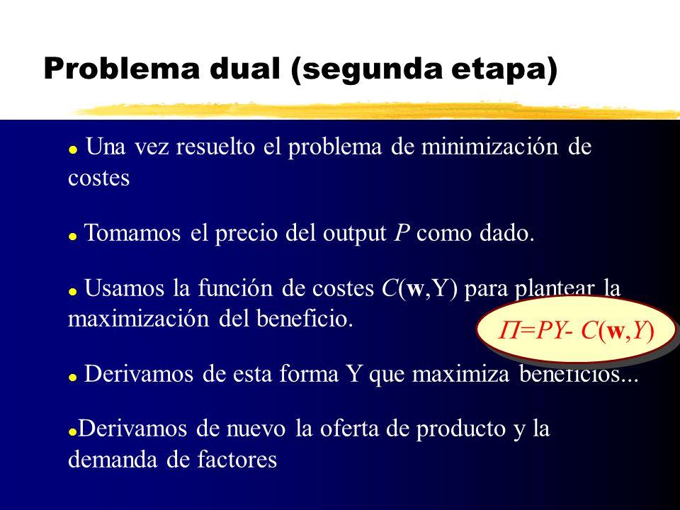 Problema dual (segunda etapa)