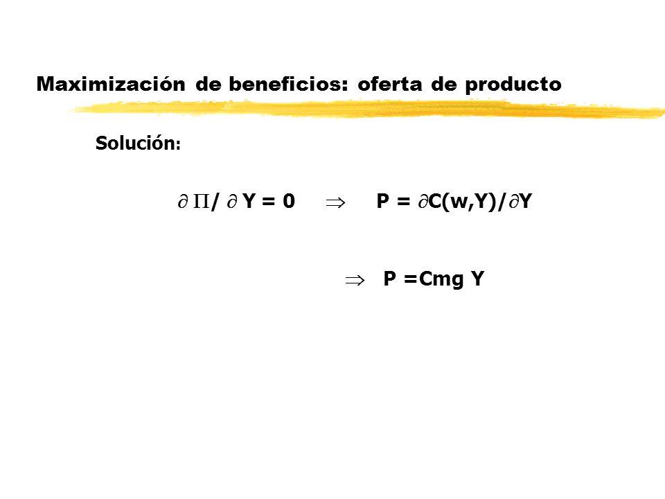 Maximización de beneficios: oferta de producto