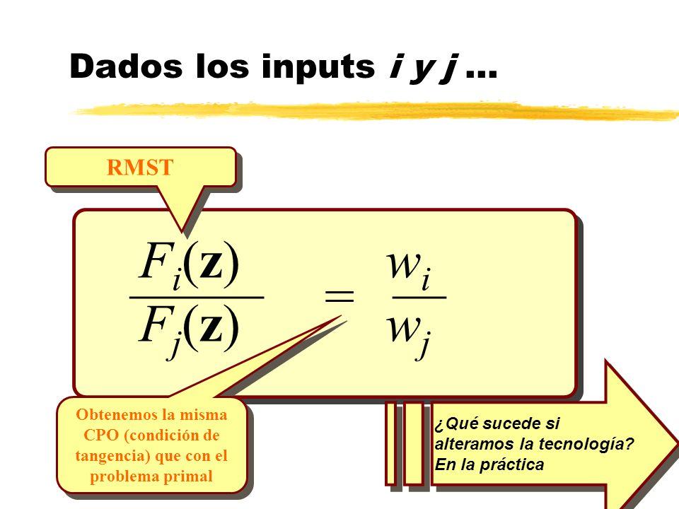 _____ __ = Fi(z) wi Fj(z) wj Dados los inputs i y j ... RMST
