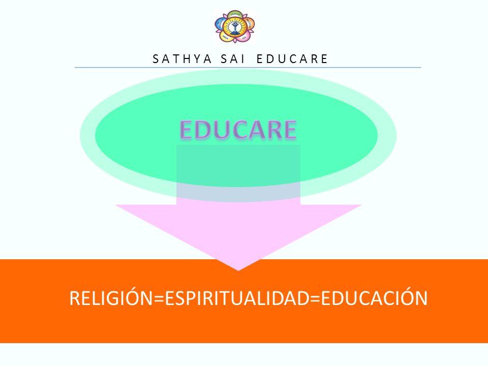 RELIGIÓN=ESPIRITUALIDAD=EDUCACIÓN