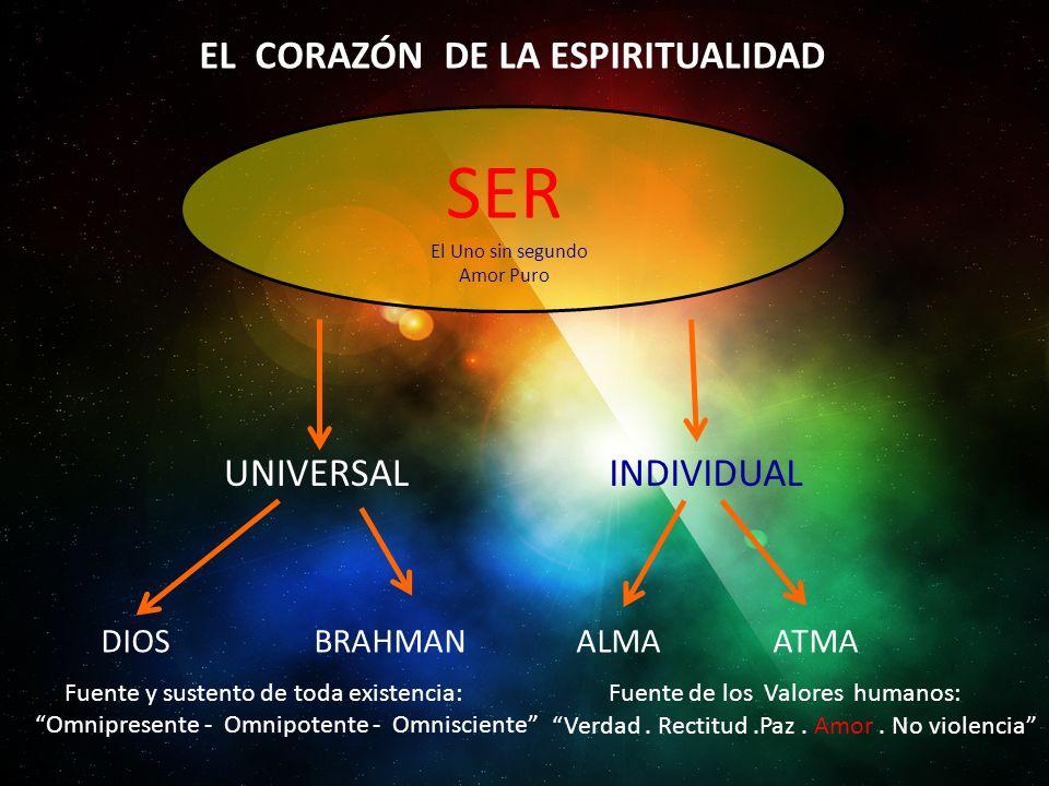 SER EL CORAZÓN DE LA ESPIRITUALIDAD UNIVERSAL INDIVIDUAL DIOS BRAHMAN