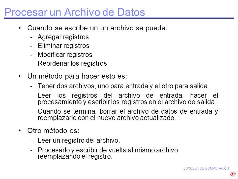 Procesar un Archivo de Datos