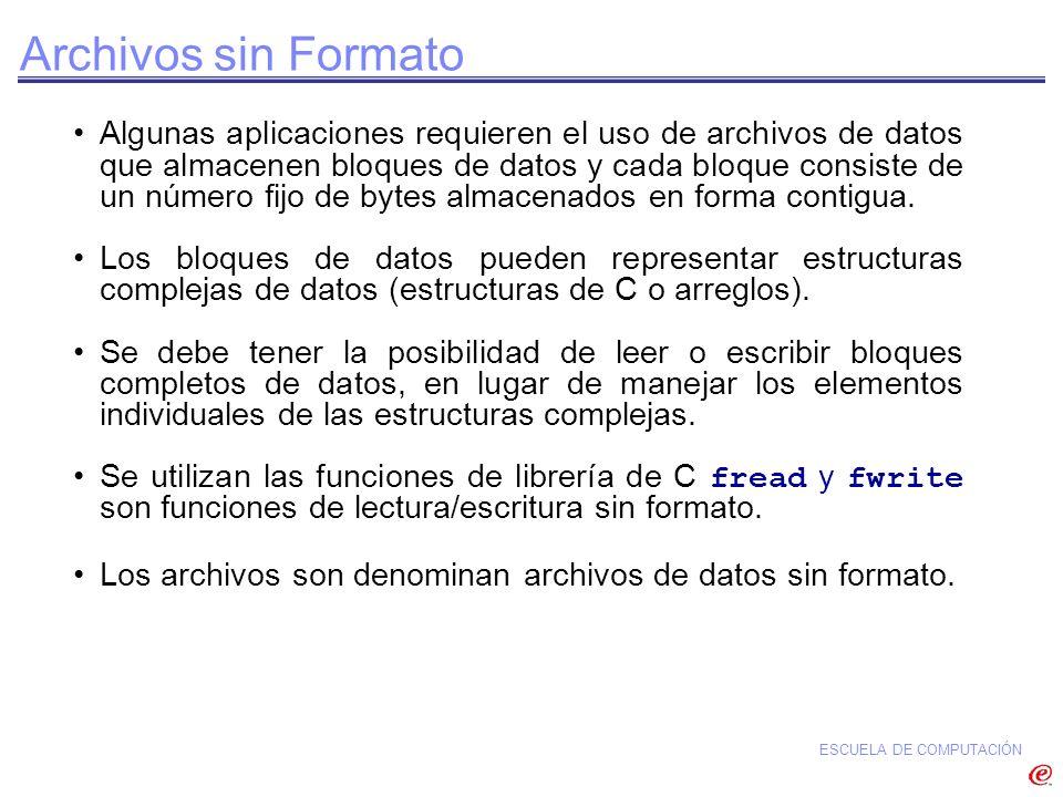 Archivos sin Formato