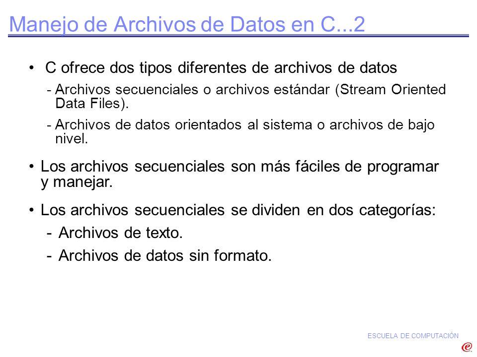 Manejo de Archivos de Datos en C...2