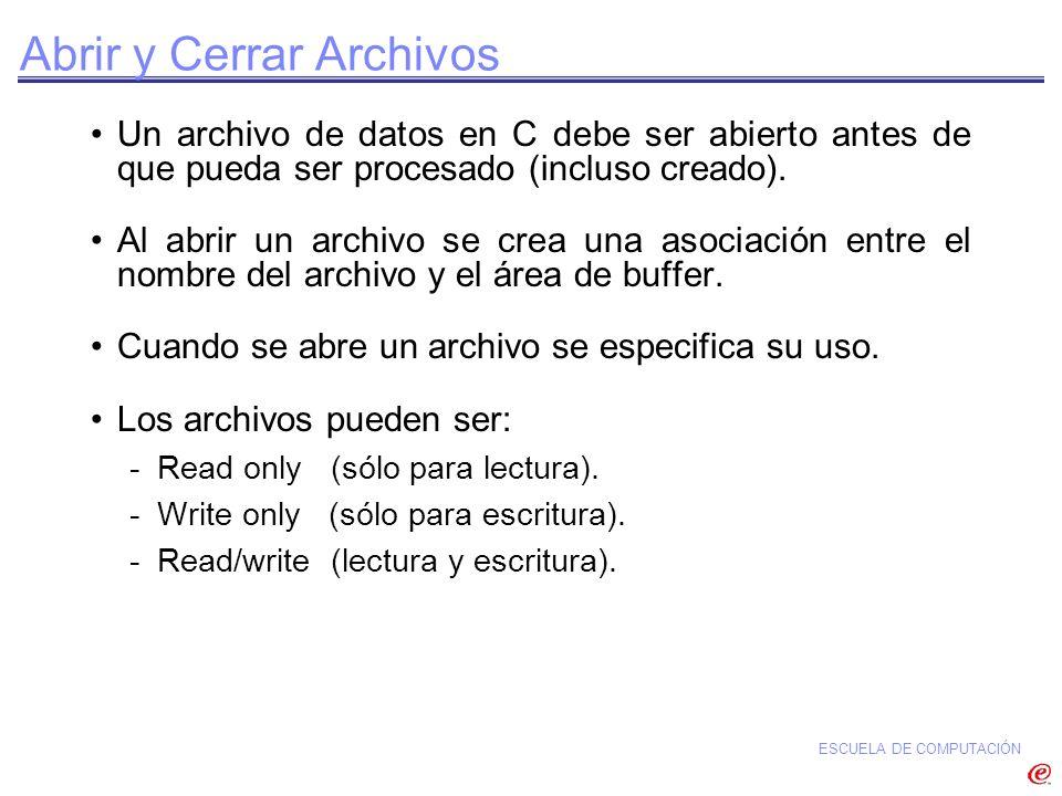 Abrir y Cerrar Archivos