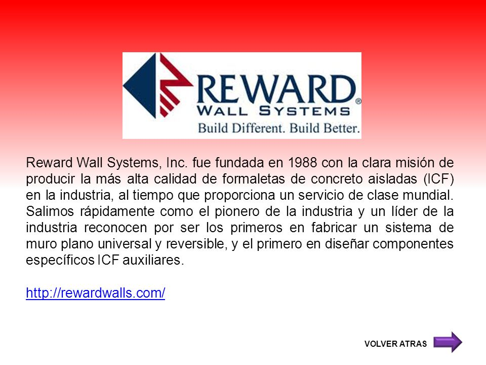 Reward Wall Systems, Inc