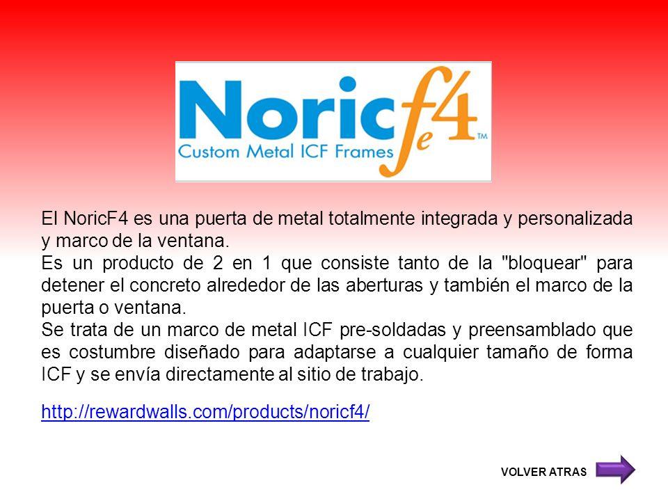 El NoricF4 es una puerta de metal totalmente integrada y personalizada y marco de la ventana.