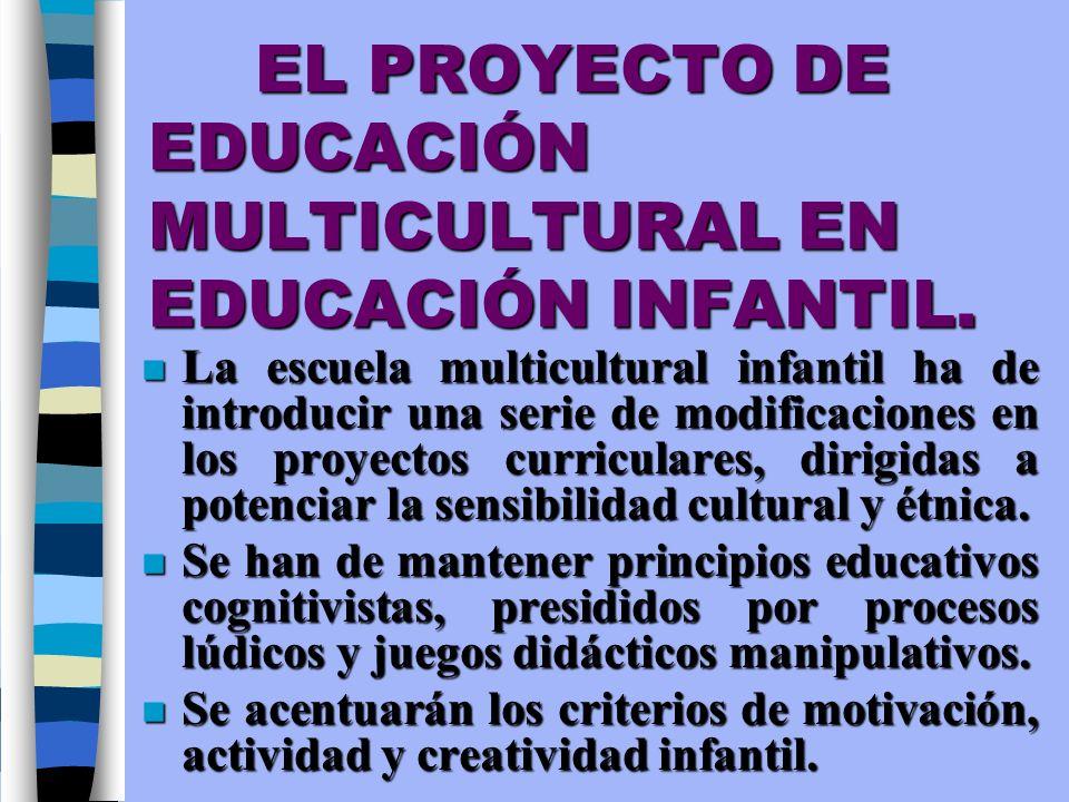EL PROYECTO DE EDUCACIÓN MULTICULTURAL EN EDUCACIÓN INFANTIL.