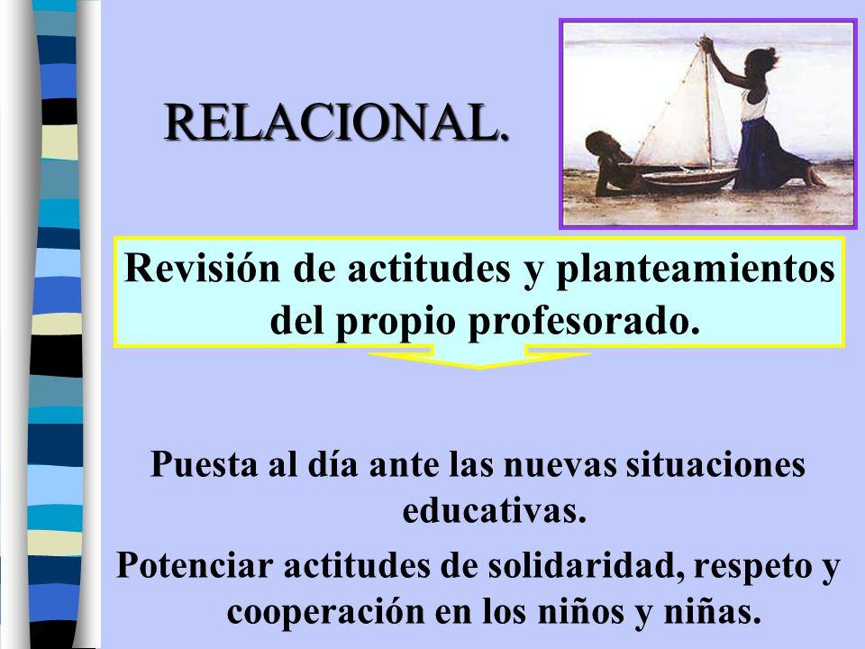 RELACIONAL. Revisión de actitudes y planteamientos