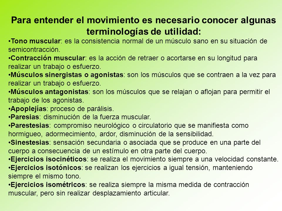 Para entender el movimiento es necesario conocer algunas terminologías de utilidad: