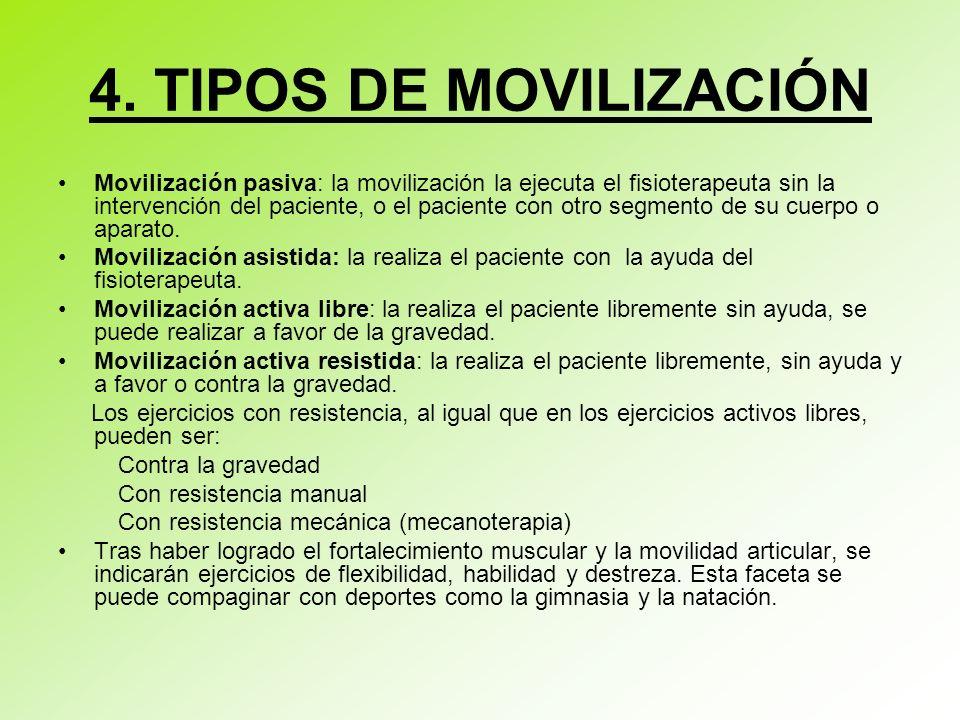 4. TIPOS DE MOVILIZACIÓN