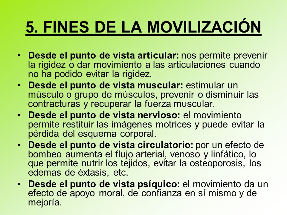 5. FINES DE LA MOVILIZACIÓN