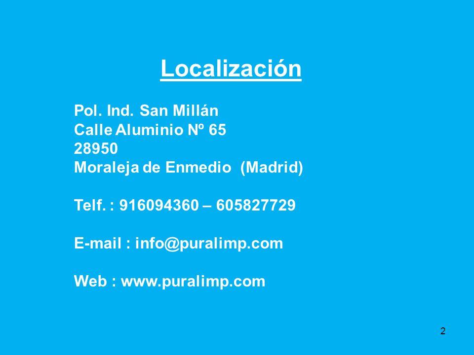 Localización Pol. Ind. San Millán Calle Aluminio Nº 65 28950