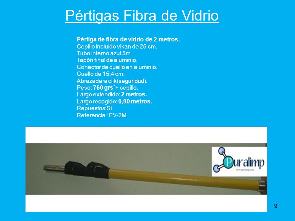 Pértigas Fibra de Vidrio