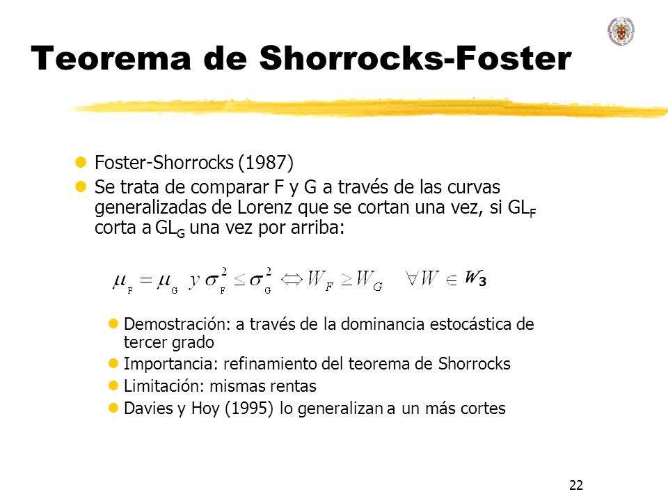 Teorema de Shorrocks-Foster