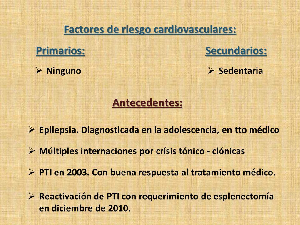 Factores de riesgo cardiovasculares: