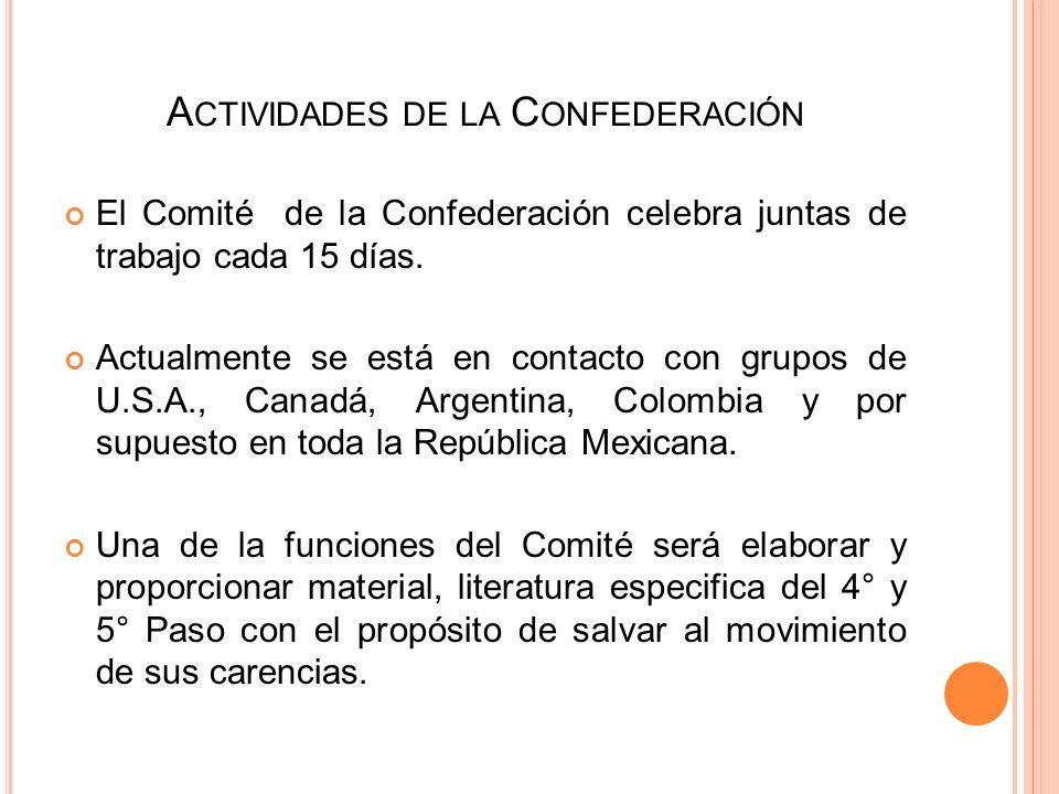 Actividades de la Confederación