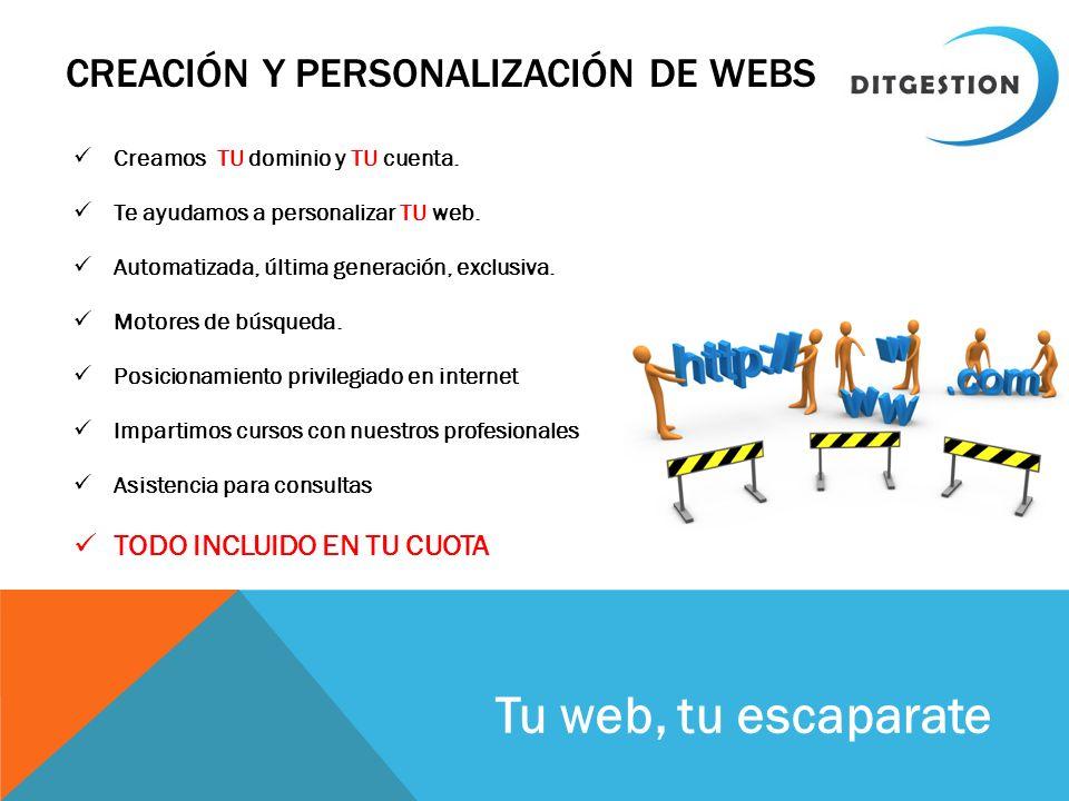 Creación y personalización de Webs
