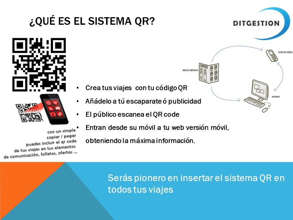 ¿Qué es el sistema qr Crea tus viajes con tu código QR. Añádelo a tú escaparate ó publicidad. El público escanea el QR code.