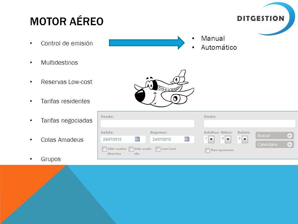 Motor aéreo Manual Automático Control de emisión Multidestinos