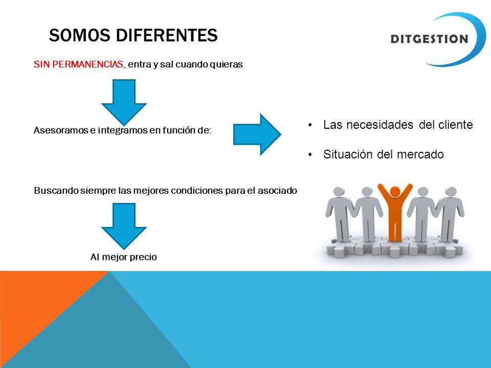 Somos diferentes Las necesidades del cliente Situación del mercado