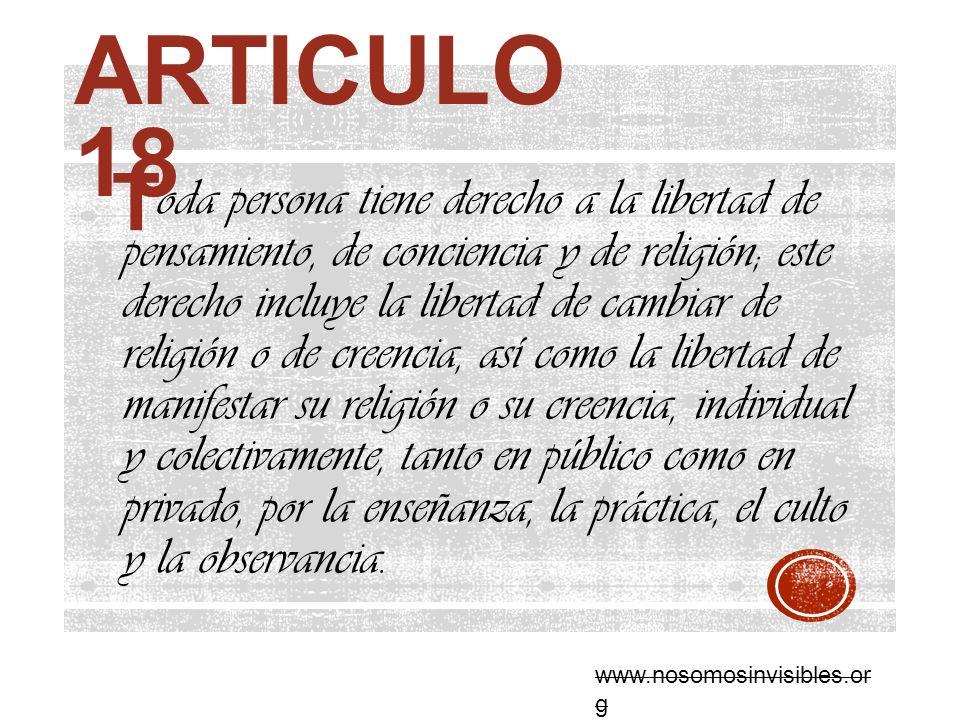 Articulo 18 T.