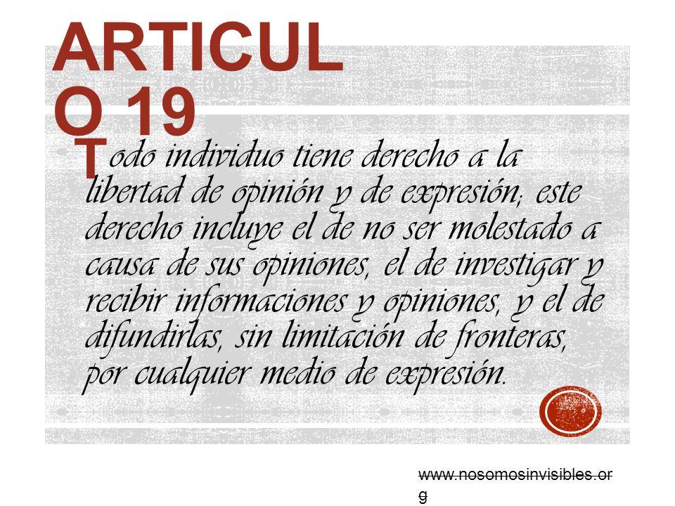 Articulo 19 T.