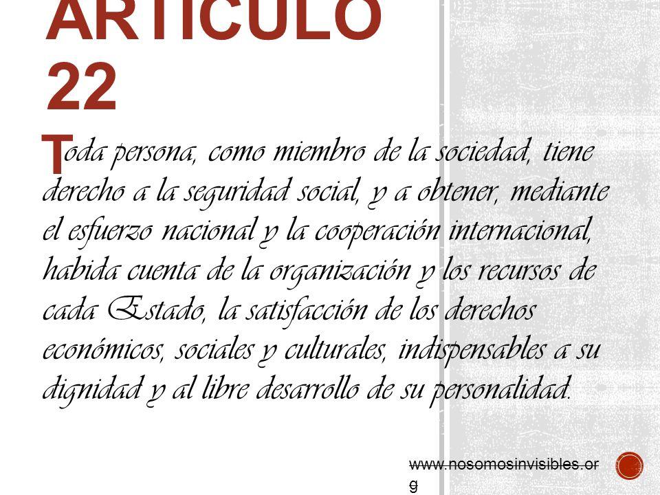 Articulo 22 T.