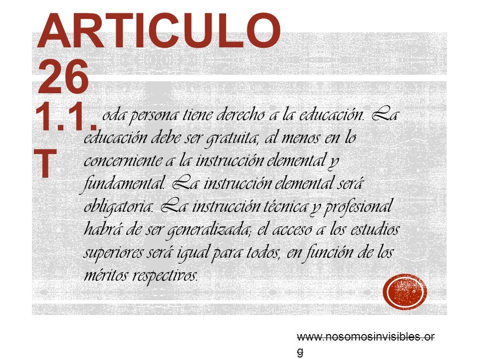 Articulo 26 1.1. T.