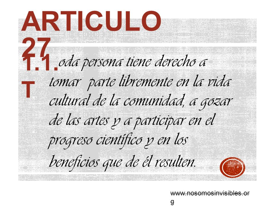Articulo 27 1.1. T.