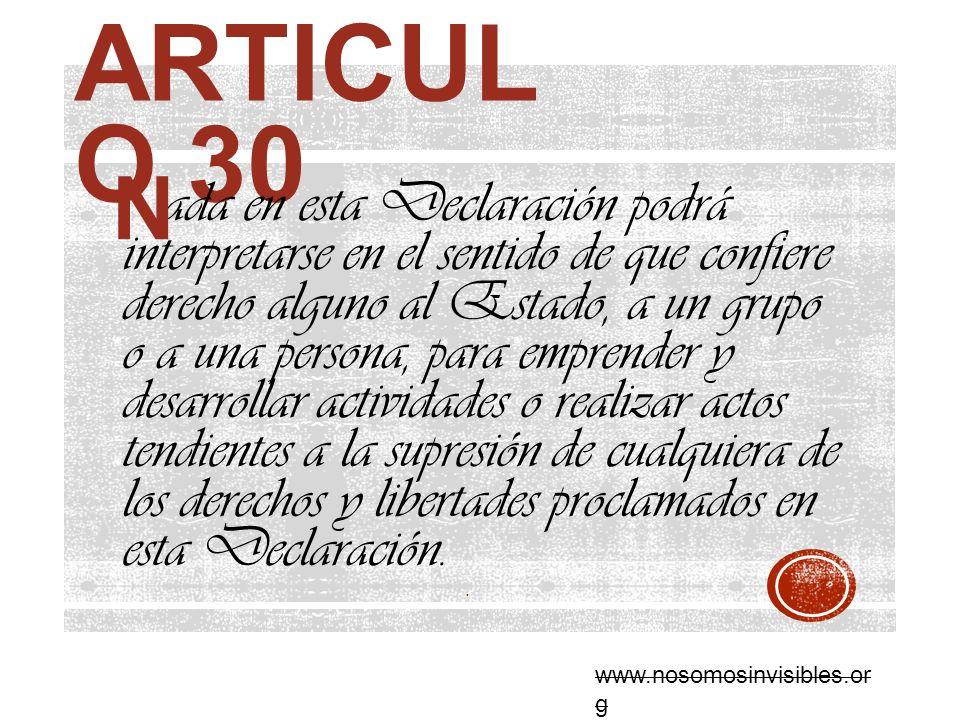 Articulo 30 N.