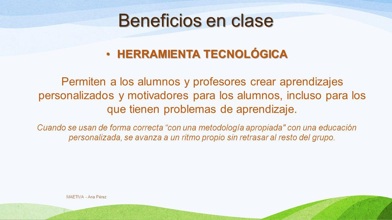 Beneficios en clase