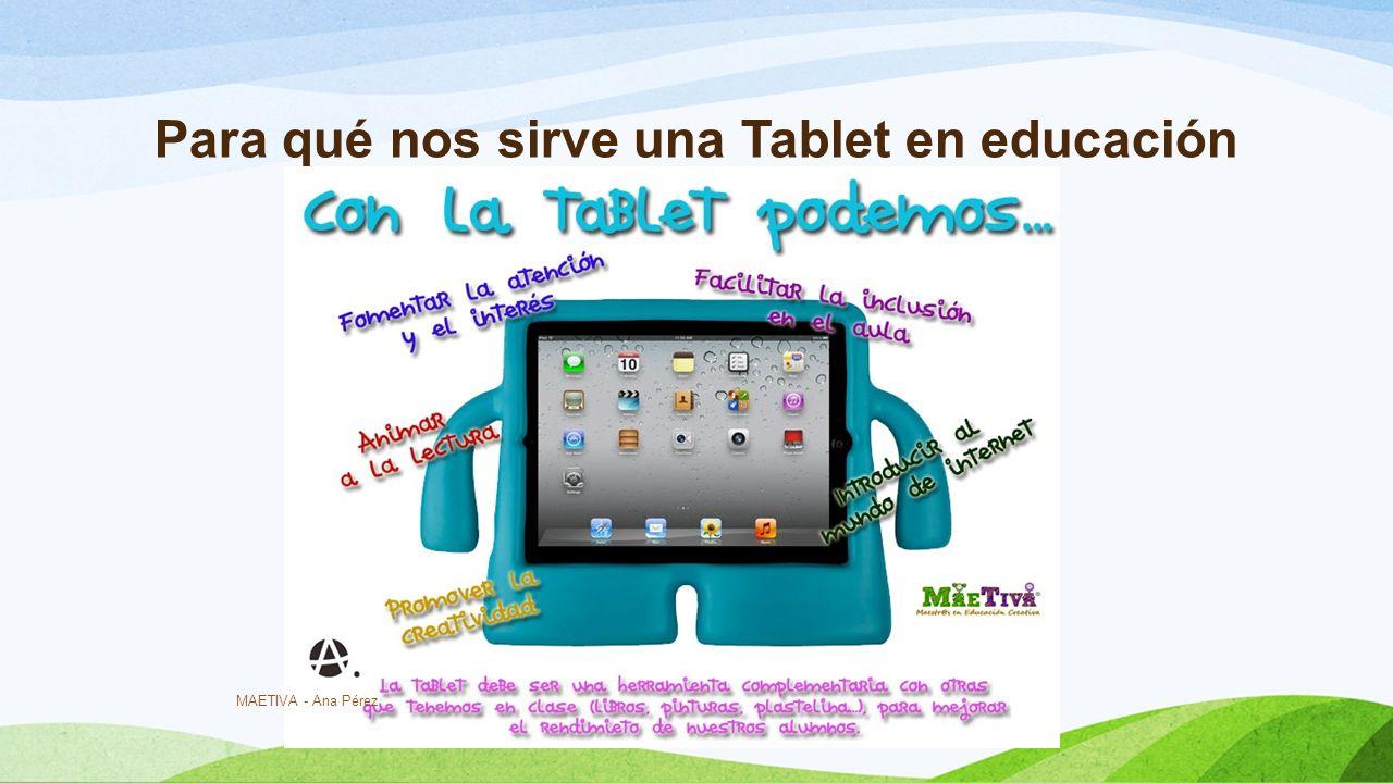 Para qué nos sirve una Tablet en educación