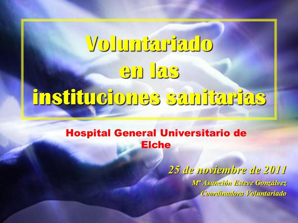 Voluntariado en las instituciones sanitarias