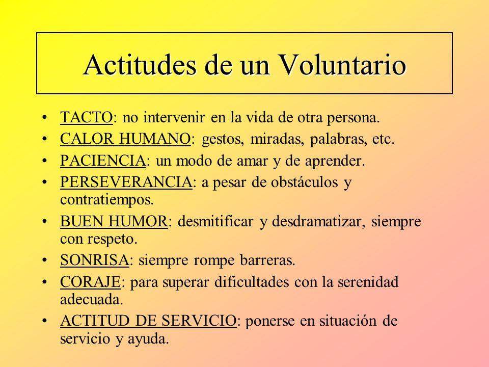 Actitudes de un Voluntario
