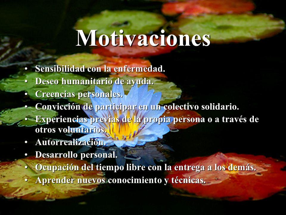 Motivaciones Sensibilidad con la enfermedad.