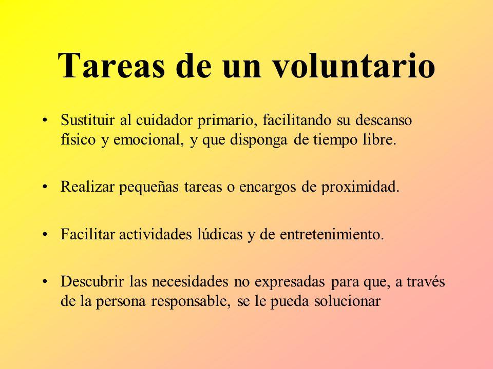 Tareas de un voluntario