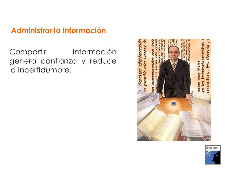 Administrar la información