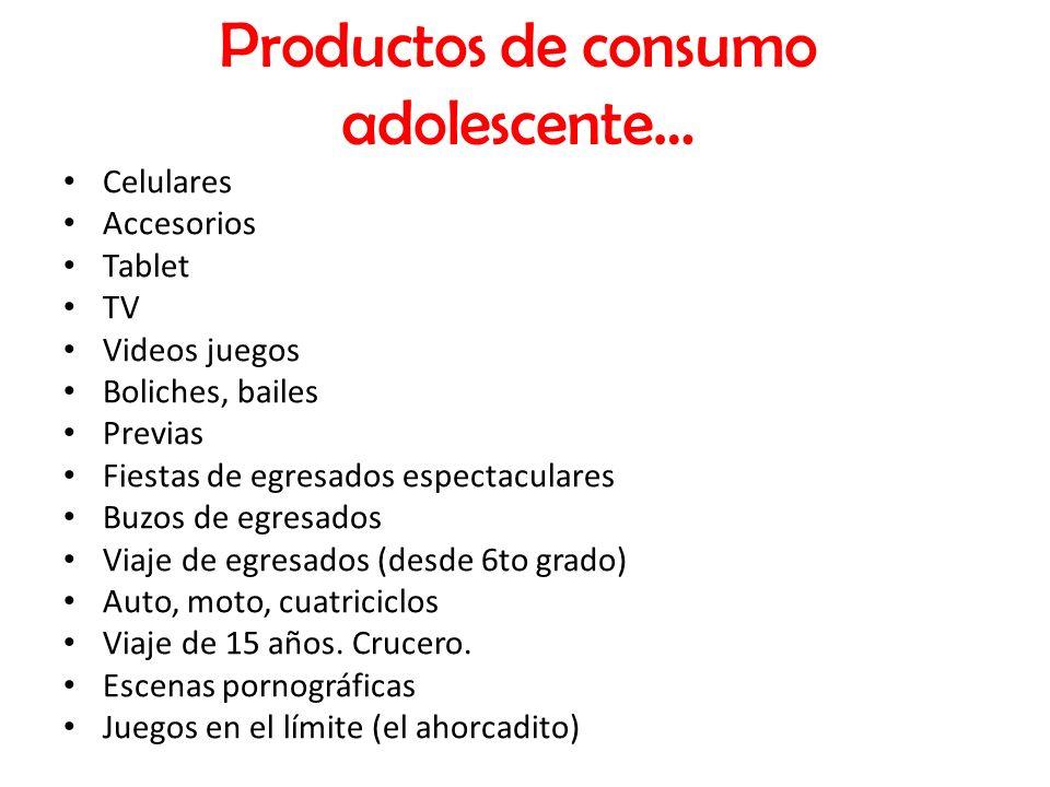 Productos de consumo adolescente…