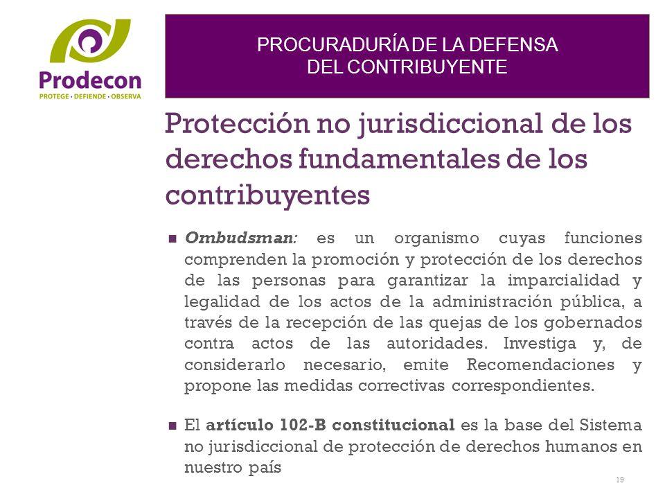 Protección no jurisdiccional de los derechos fundamentales de los contribuyentes