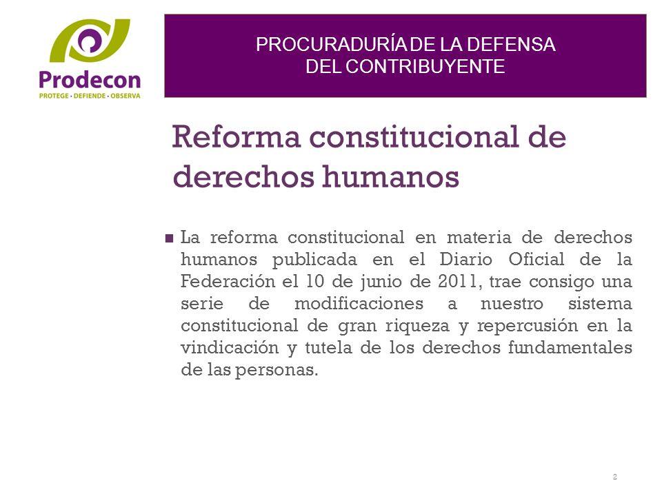 Reforma constitucional de derechos humanos