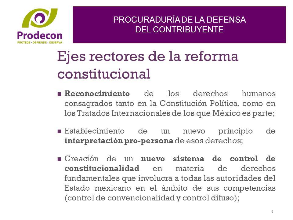 Ejes rectores de la reforma constitucional