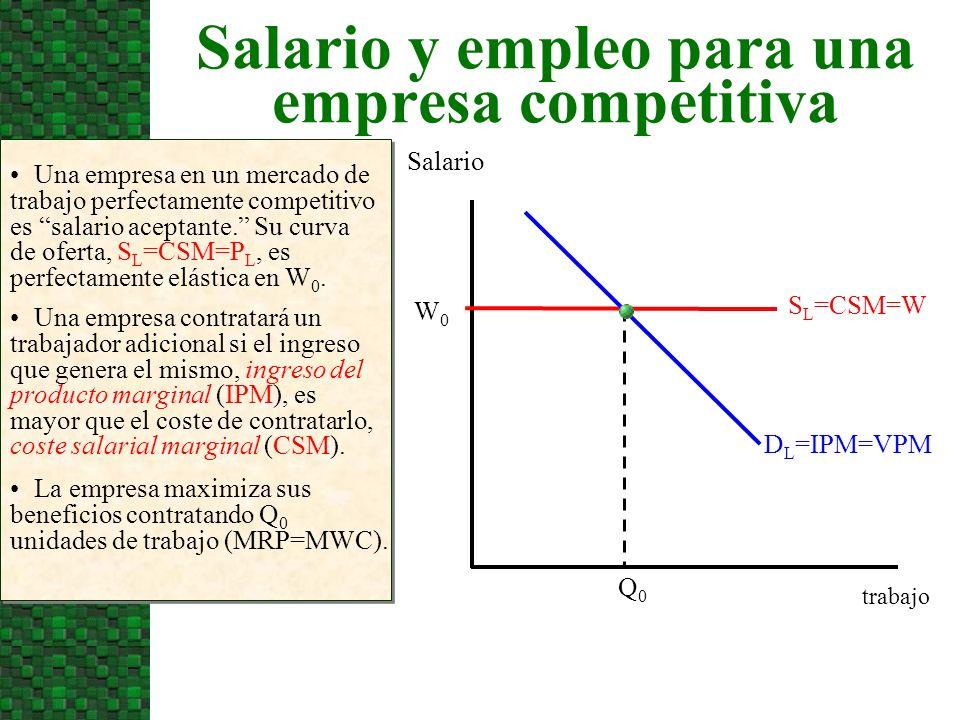 Salario y empleo para una empresa competitiva