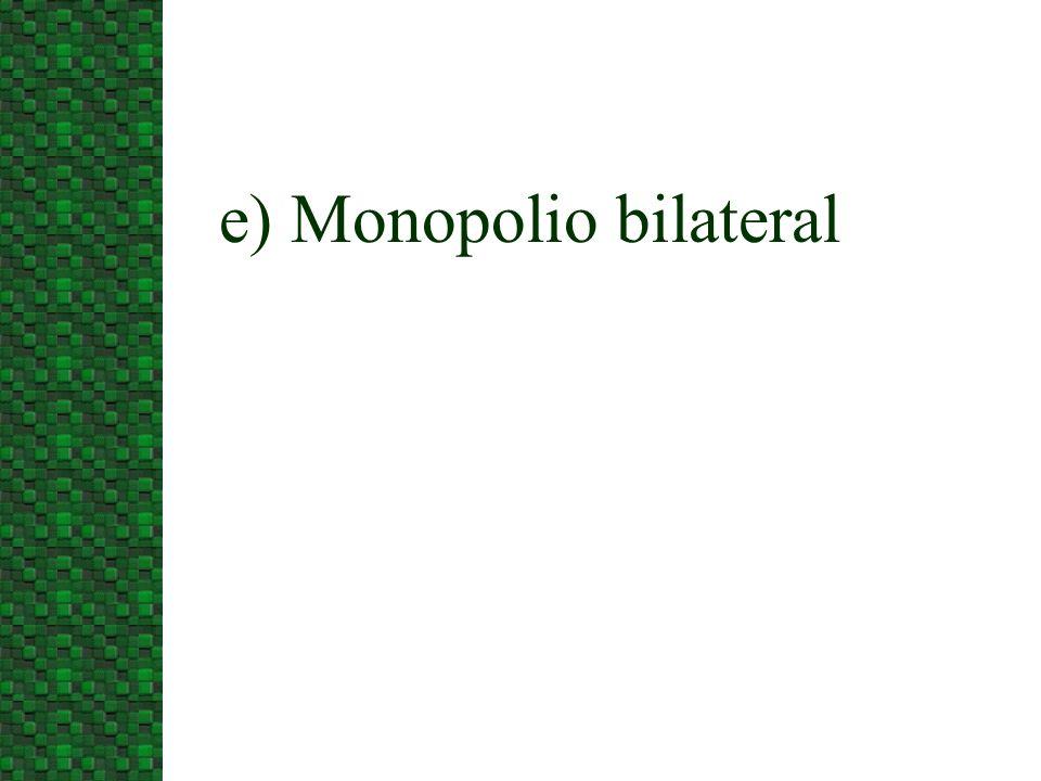 e) Monopolio bilateral