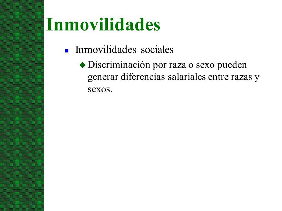 Inmovilidades Inmovilidades sociales