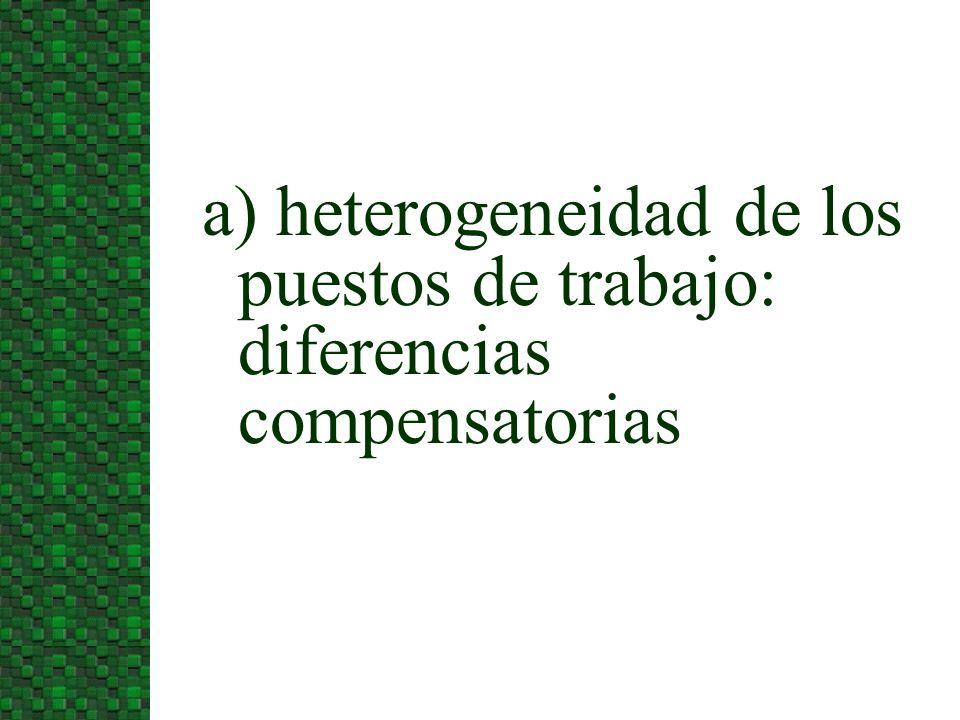 3/24/2017 a) heterogeneidad de los puestos de trabajo: diferencias compensatorias
