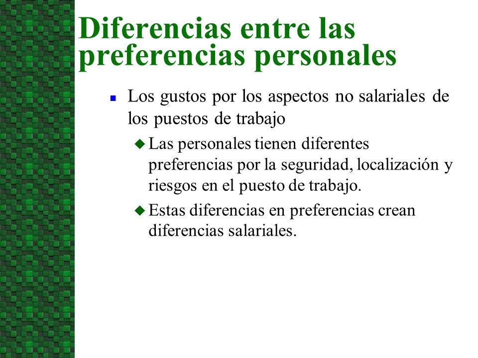Diferencias entre las preferencias personales